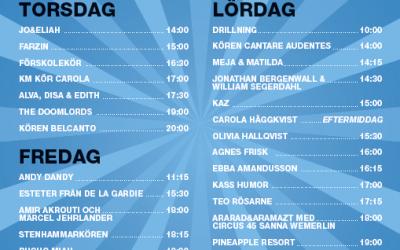 Scenprogrammet för Musikhjälpen i Lidköping klart…